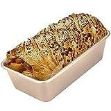 CHEFMADE Moule à Pain 9 Pouces Antiadhésif en Acier au Carbone Moulle Cake sans PTFE et PFOA Couleur Or Champagne 24,3x14,6x6,6cm …