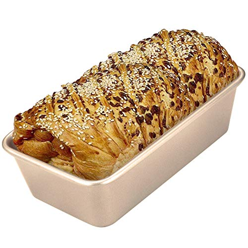 CHEFMADE Kastenform Brotbackform Antihaftbeschichtung Backform Toast Form Schwerer Karbonstahl Backformen Kuchenform für Saftige Kuchen und Deftige Brote, Champagner Gold