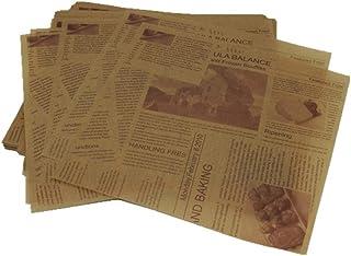 DIYARTS 200 piezas Vintage Newspaper mesa de papel a prueba de aceite alimentos Pad aceite Blotting Papeles para Restauran...