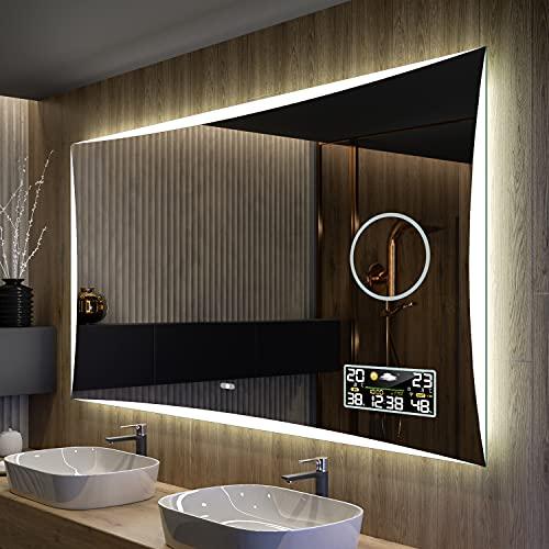 Artforma Badspiegel 120x60 cm mit LED Beleuchtung - Wählen Sie Zubehör - Individuell Nach Maß - Beleuchtet Wandspiegel Lichtspiegel Badezimmerspiegel - LED Farbe zu Wählen Kaltweiß/Neutralweiß L77