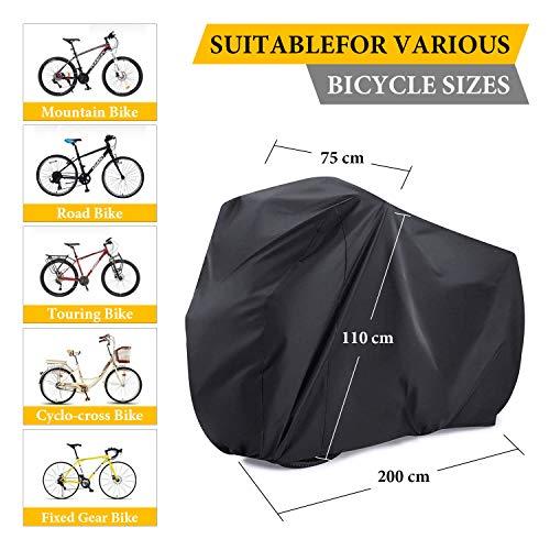 2 Bikes Cover, SAVFY 180T Heavy Duty Outdoor Waterproof Bicycle Cover - Sutis Mountain Bike, Road Bike