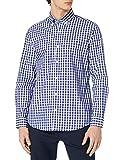 Cortefiel Camisa Cuadro Vichy All Season Coolmax Eco-Made Stretch, Navy, L para Hombre