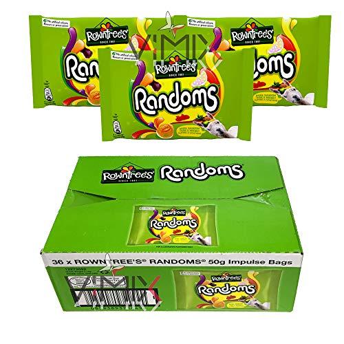 ROWNTREE'S RANDOMS - Bolsa de dulces masticables (36 x 50 g)