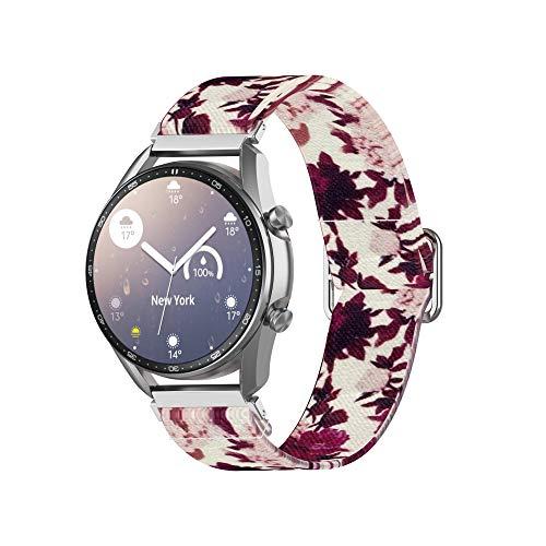 TopTen Pulsera de repuesto de nailon suave y transpirable, de 22 mm, compatible con Samsung Gear S3 Frontier/Classic, Galaxy Watch 46 mm, Galaxy Watch 3 45 mm (J)