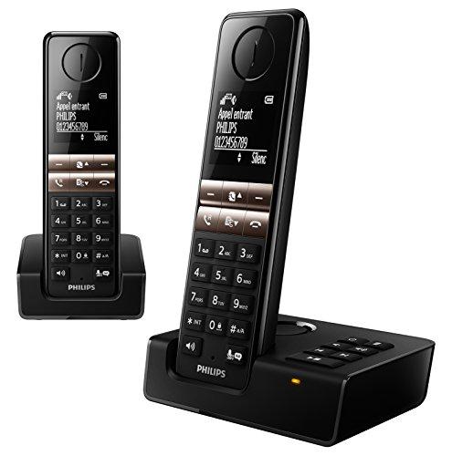 Philips D4652B/FR Telefon DECT-Telefon Schwarz Anrufer-Identifikation - Telefone (DECT-Telefon, Kabelloses Mobilteil, Freisprecheinrichtung, 50 Eintragungen, Anrufer-Identifikation, Schwarz)