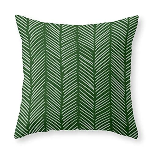 Cocoal-ltd - Federa per cuscino, motivo a spina di pesce, 45,7 x 45,7 cm, per divano letto, auto e decorazione per la casa