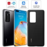 HUAWEI P40 Pro 256 GB 6.58 Inch Smartphone Bundle with PU Case, Kirin 990 5G, 50 MP Ultra Vision Leica Quad Camera, 8 GB RAM, 40W SuperCharge, IP68, SIM-Free Android Mobile Phone, Dual SIM, Black