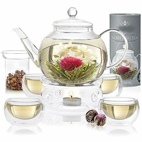 Complete Tea Set – Stovetop Glass Teapot (40 OZ / 1.2 L) Tea infuser Tea pot Tea infusers for free tea Tea maker Glass teapot Teapot with infuser Tea diffuser for free tea