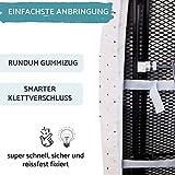 lamodo® - Bügelbrettbezug 120x40 für Dampfbügeleisen aus 100% Baumwolle mit extra Dicker Polsterung inkl. Bügeltuch - Gummizug und smartem Klettverschluss + Bügeltipps - 5