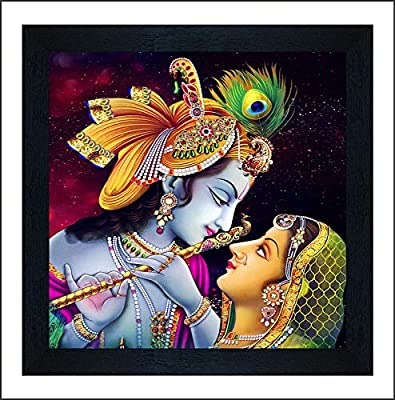 SAF Radha Krishna UV Coated Multi-Effect Digital Reprint Painting 12 inch X 12 inch SANF21056