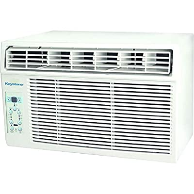 Keystone 5,000 BTU Window-Mounted Air Conditioner with Follow Me LCD Remote Control, White