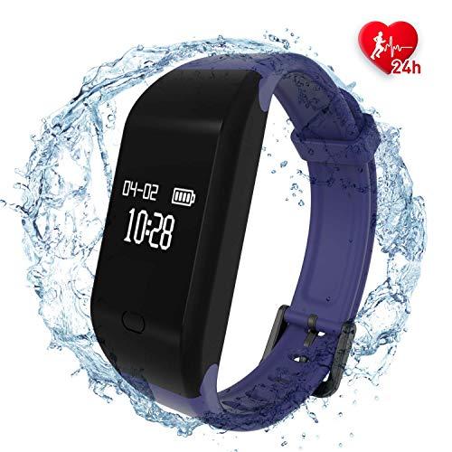 Fitpolo Fitness Tracker Mujer/Hombre/Niño Pulsera Actividad con Contador de Calorias/Monitor de Sueño/Contador de Pasos/Reloj,Smartwatch Impermeable IP67 para iPhone Android(Púrpura)