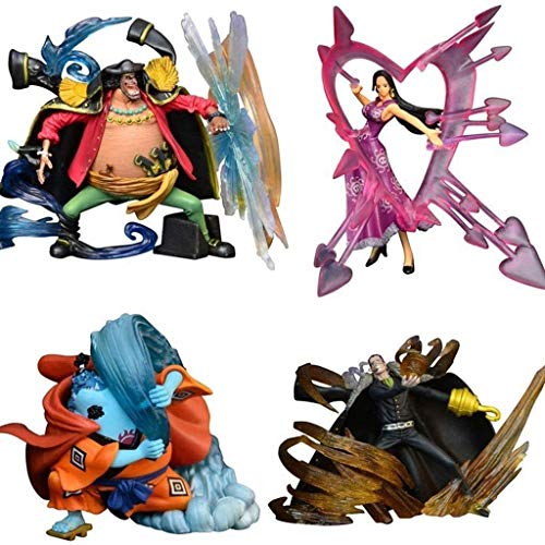 Taoke Pop Figure One Piece Marshallmiddot; Dmiddot; Enseignez/Jinbei/Boa Hancock/Sir Crocodile d'action Figurine de Collection for Les Fans de One Piece 8bayfa
