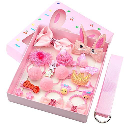 Kinder Haarschleifen Geschenkset Haarspangen für kleine Babys, Mädchen, 18 Stück Kinderspangen Haarzubehör Bänder als Kleinkind-Duschbuch oder Geburtstagsgeschenk für kleine Mädchen