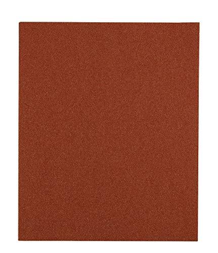kwb 800424 Lot de 5 feuilles de papier abrasif pour bois, couleur et spatule 230 x 280 mm soudées Korn K-240