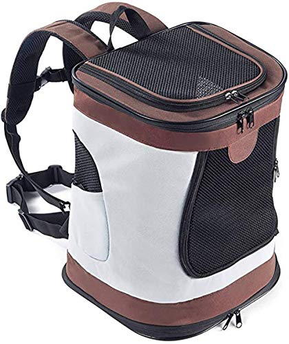 ESSEASON 123Padded Fabric Pet Dog Puppy Cat Backpack Rucksack Carrier Bag,brown