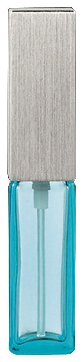 有望ピッチャー電圧15493 メンズアトマイザー角ビン ブルー キャップ ヘアラインシルバー
