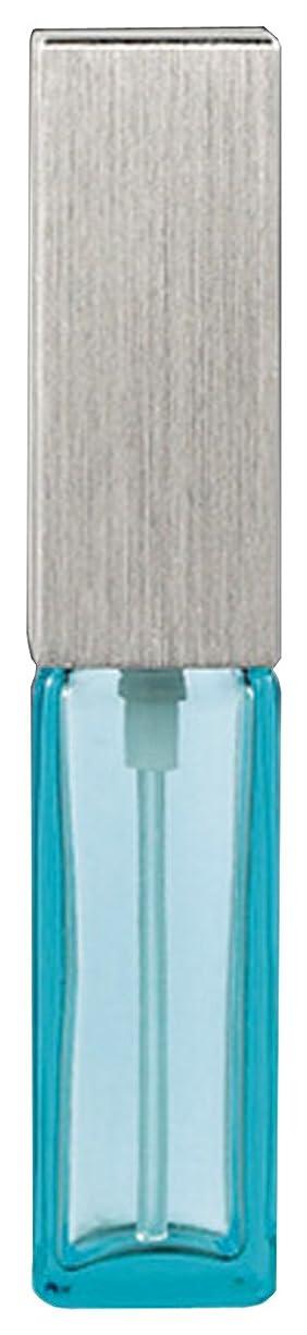 微弱リア王おなじみの15493 メンズアトマイザー角ビン ブルー キャップ ヘアラインシルバー