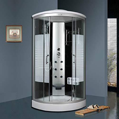 OimexGmbH Arielle ECO Duschkabine 100 x 100 cm Komplettdusche mit Massagefunktion Armaturen Sicherheitsglas (ESG) Dusche