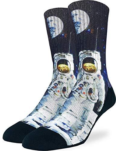Good Luck Sock Men's Apollo Astronaut Socks, Adult
