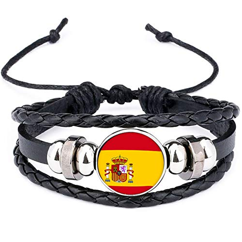 mxdmai 2018 España Bandera Nacional Encanto de la Pulsera de los braz
