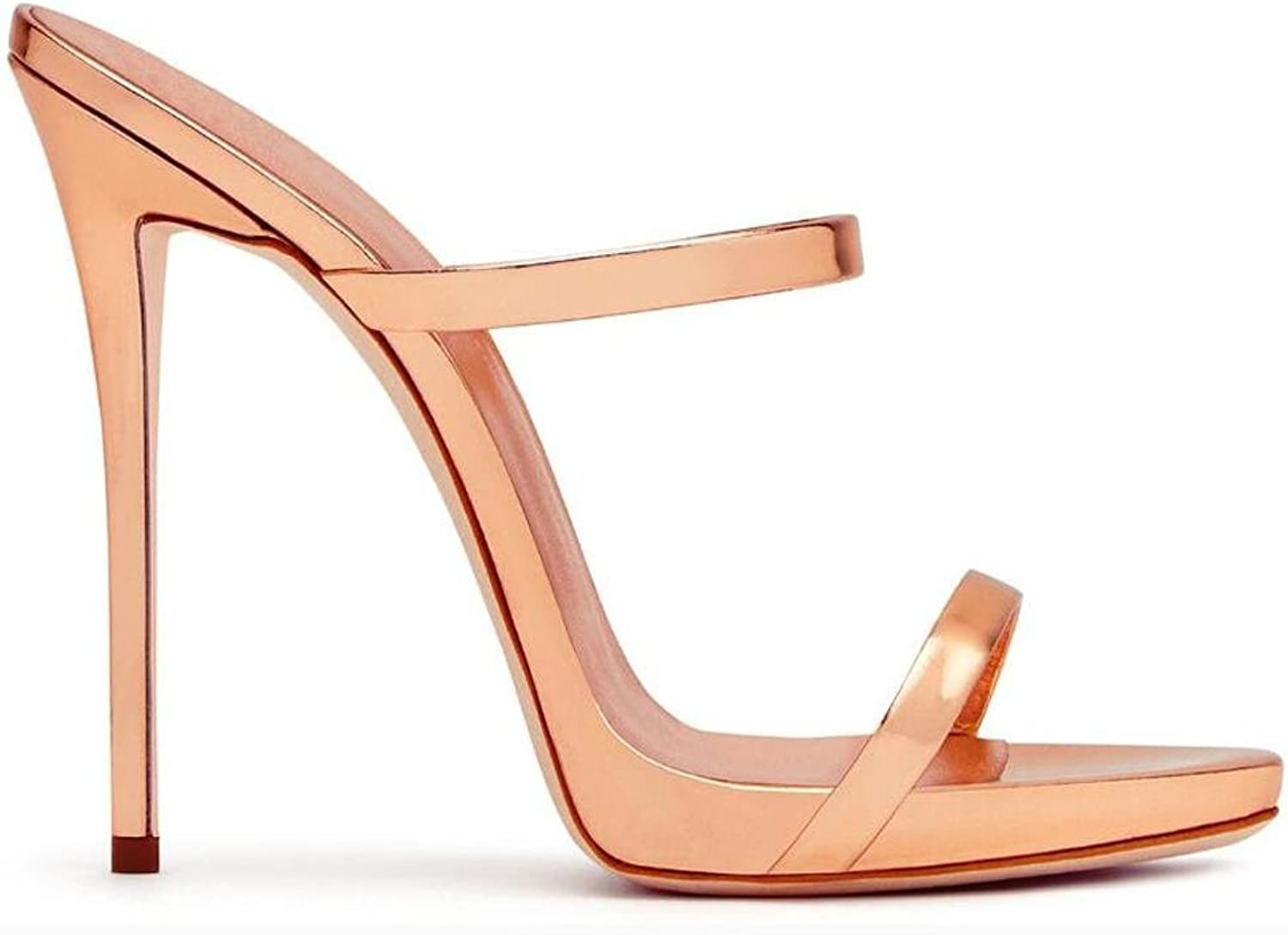 L@YC Women's High Heels Leather Simple and Comfortable Dance Sandals Pink Yellow