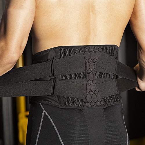 CinturóN Lastre Placa mujeres de los hombres de la cintura del condensador de ajuste de la espina dorsal de correa de soporte de acero Soporte gimnasia de pesas lumbar del apoyo trasero Accesorios Dep