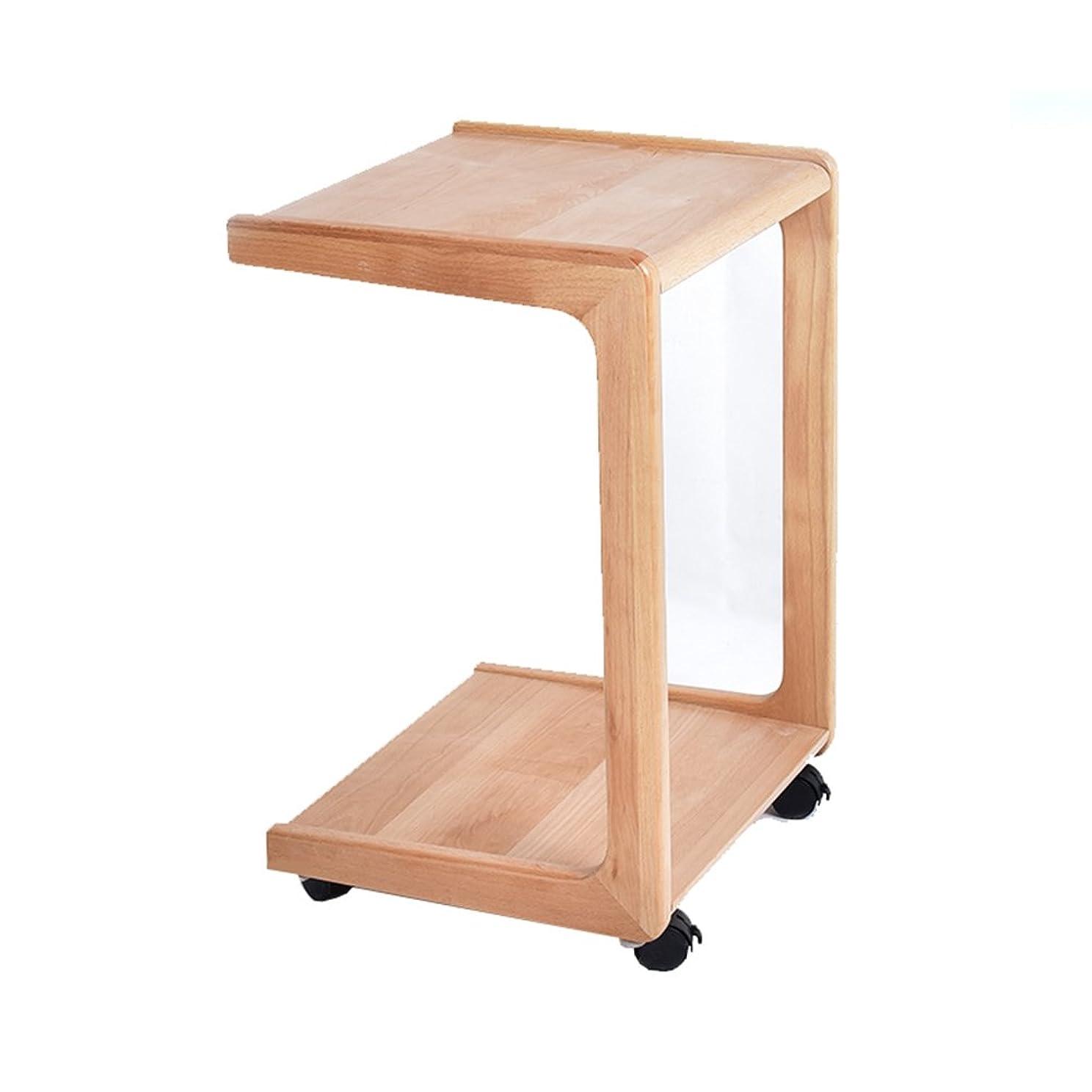 服を着る信じる浸すXiuHUa ソリッドウッドモバイルサイドテーブルコーヒーテーブルソファいくつかの四角いコーナーシンプルなソファサイドテーブルベッドサイドテーブル高硬度エルム ベッドルーム家具