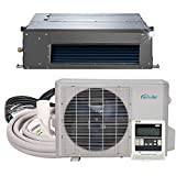 Senville SENA-24HF/ID Concealed Duct Mini Split Air Conditioner Heat Pump, 24000 BTU, Off-White