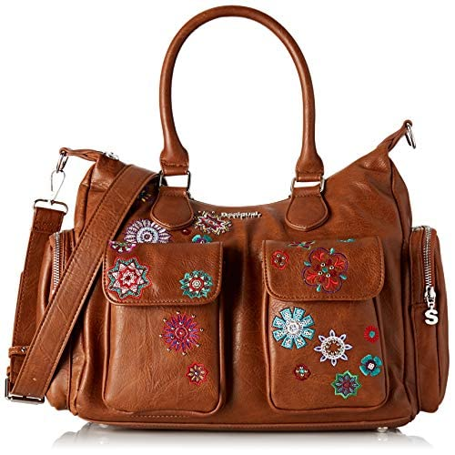 Desigual Bag Rep Nanit London, Borsa a cartella Donna, Marrone (Marron), 15.5x25.5x32 cm (B x H x T)