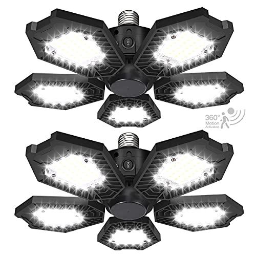 LED Motion Garage Lights 2 Pack 150W Motion Sensor Garage Light for Garage, Warehouse, Workshop, Basement