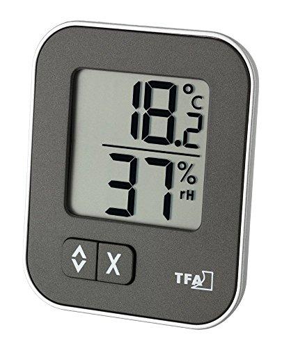 TFA Dostmann Moxx 30.5026-Termómetro e higrómetro Digital, Antracita, 1 Unidad