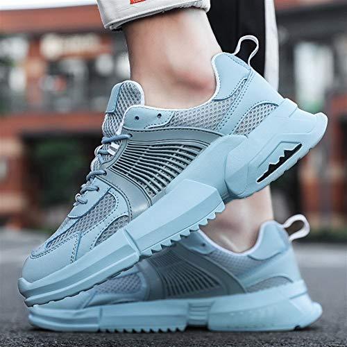 Herren-Schuhe, Sommer- und Herbst, atmungsaktives Netzgewebe, koreanische Version der Trend of Wild Sportschuhe, alte Laufschuhe für Herren (Farbe: Mond)