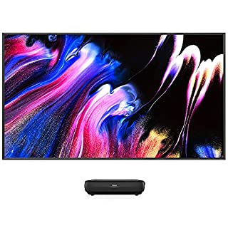 """Hisense 120 L9G - 120"""" 4K Trichroma Home Theatre Laser TV Bundle Ultra HD HDR Smart DLP Technology Short-Throw Laser TV Projector with Screen (B09DTJWWGH) 