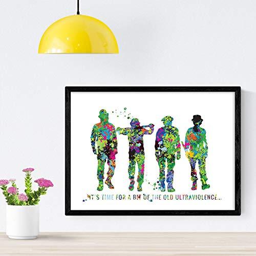 Nacnic Poster de La Naranja mecánica Estilo Acuarela. Lámi