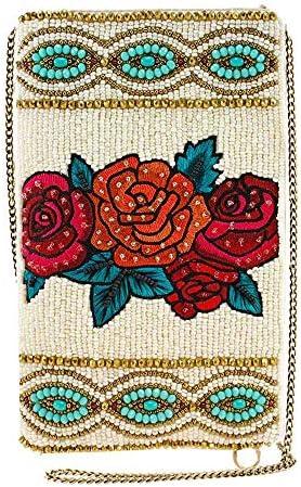 Mary Frances Frida Flowers Beaded Crossbody Phone Bag Purse Multi product image