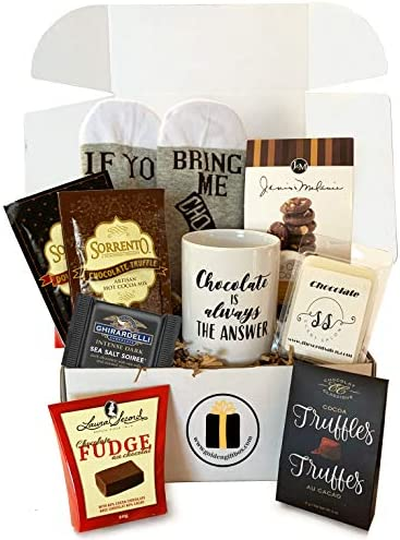 Gourmet Chocolate Gift Sets Gourmet Cocoas Chocolate Cookies Truffles Fudge Grand Gift Basket product image