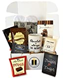 Gourmet Chocolate Gift Sets, Gourmet Cocoas, Chocolate Cookies, Truffles, Fudge - Grand Gift Basket for Christmas, Holiday, Snack, Secret Santa, Office and Friends