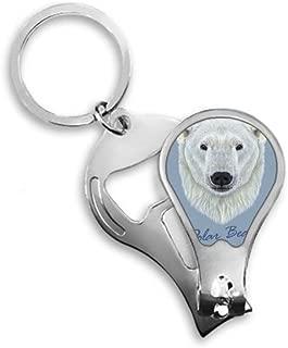 White Northern Wild Polar Bear Animal Toenail Clipper Cutter