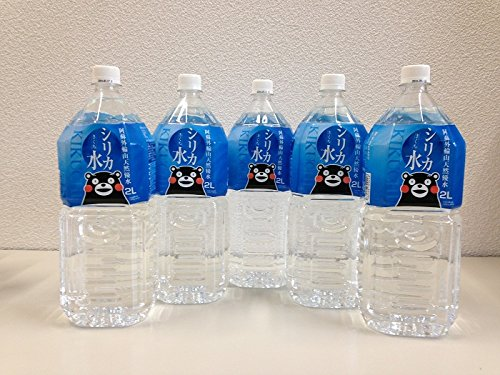 『くまモンバージョン くまもと阿蘇外輪山の美味しい天然優水 「シリカ水きくち」2L×12本入り』のトップ画像