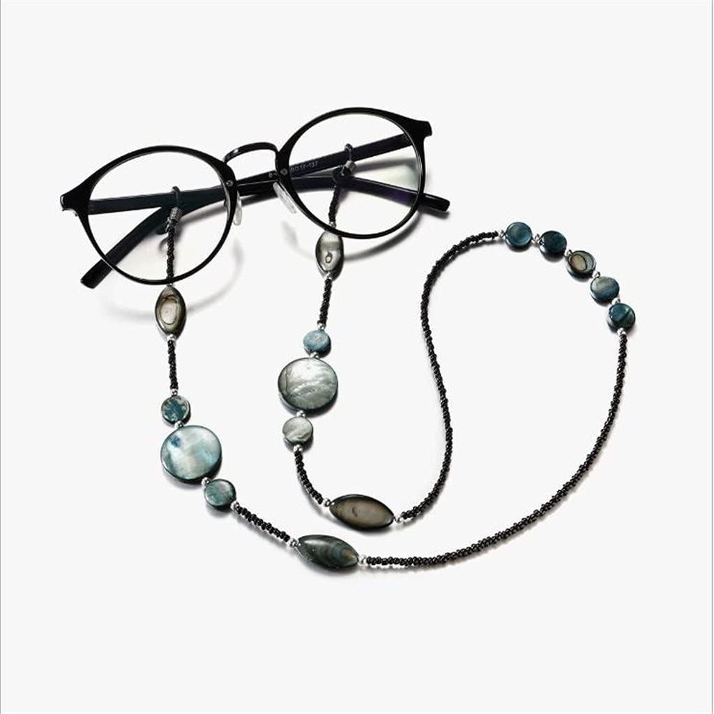 SSMDYLYM Bohemian Textured Colorful Stone Chain Cords Reading Glasses Chain Women Sunglasses Accessories Lanyard Hold Straps (Color : A, Size : Length-70CM)