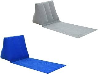 Prettyia 2 Pcs Inflating Beach Camping Back Pillow Cushion Chair Casual Air Bed Mat