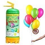 ocballoons Bombola Elio Gas 2,2LT per Gonfiare Palloncini USA e Getta Kit Festa Bomboletta Gonfia 25 Palloncini Colorati Gonfiatore per Addobbi e Decorazioni per Feste Compleanno