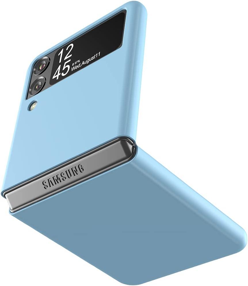 Cresee Case for Samsung Galaxy Z Flip 3 5G 2021, Slim Fit Matte PC Cover Phone Case for Galaxy Z Flip3 - Blue