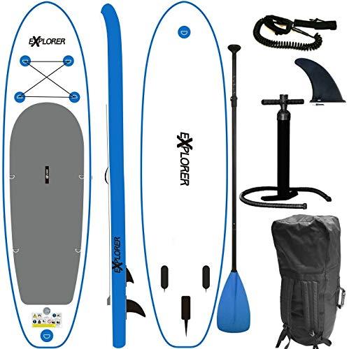 EXPLORER SUP Board Stand Up Paddle Surfboard aufblasbar Paddel ISUP 305 cm