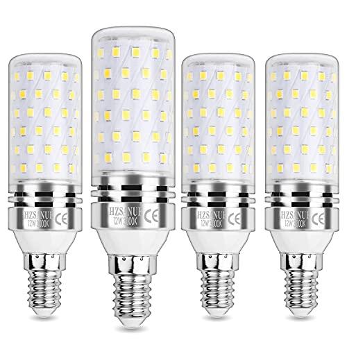 HZSANUE Ampoule Maïs LED 12W, E14 Petit Edison Vis Ampoules, Blanc Chaud 3000K, 1200LM, Équivalent Ampoule Incandescence 100W, Non Dimmable, lot de 4