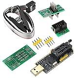 ABSOK SOIC8 SOP8 Flash Chip IC CH341A USB Programmer Flash BIOS Chip USB Programmer Module (SB Programmer+SOP8 Clip+Adapter)