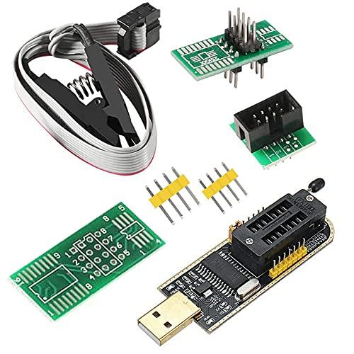 SOIC8 SOP8 Flash-Chip IC CH341A USB-Programmierer EEPROM Flash-BIOS-Chip USB-Programmiermodul (SB-Programmierer + SOP8-Clip + Adapter)