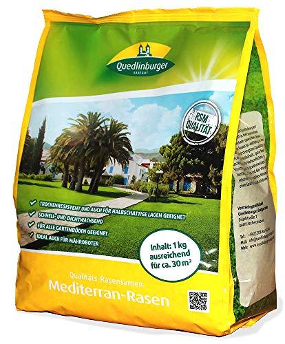 Quedlinburger 104964 Mediterran-Rasen (1 kg) (Rasensamen)