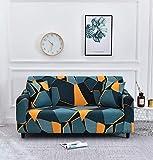 WXQY Fundas geométricas elásticas Antideslizantes para sofá Funda de sofá para Mascotas Esquina en Forma de L Funda de sofá Antideslizante A7 2 plazas